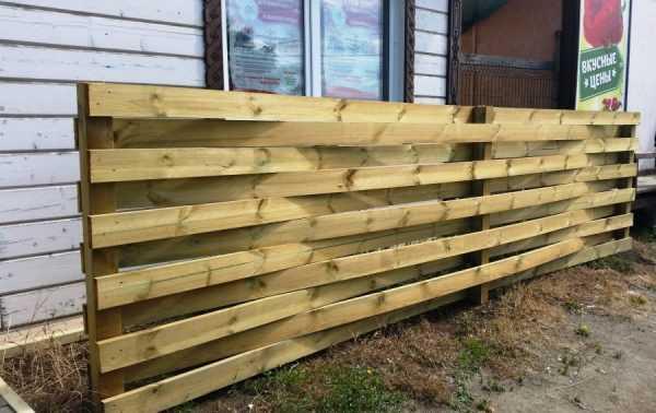 Забор из импрегнированной доски