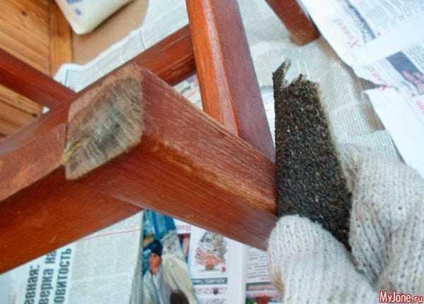 Зачистить мебель перед покраской