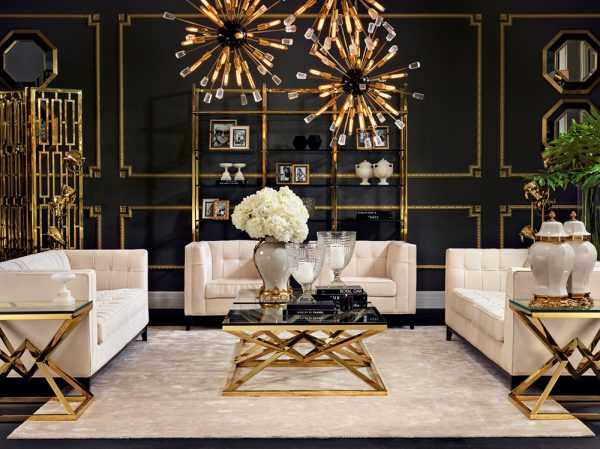 Золотой декор в интерьере